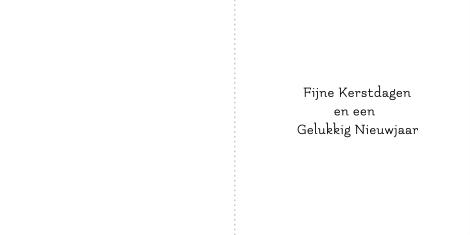 KiKa Kerstkaart - Typografische kerstboom