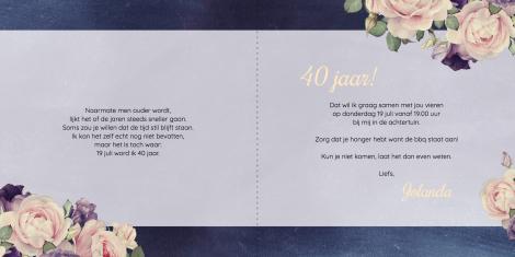 Uitnodiging - Romantische bloemenpracht