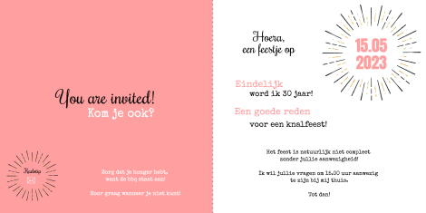 Uitnodiging - Stralend