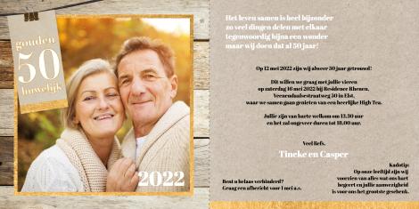 Uitnodiging - Een gouden huwelijk