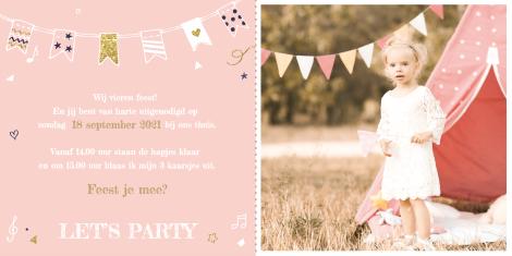 Uitnodiging - Verjaardagskaart met eigen foto