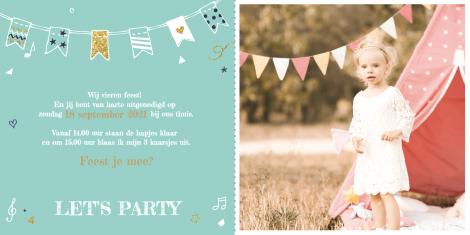 Uitnodiging - Droedel Verjaardagskaart